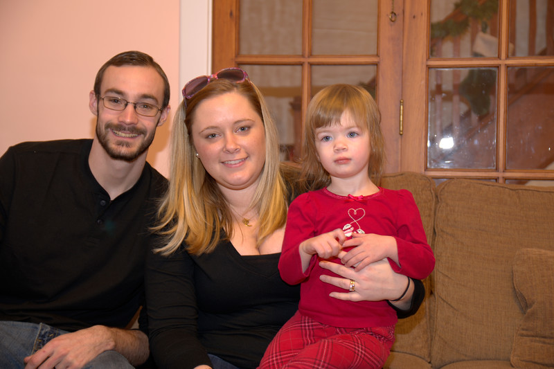 Family Christmas Fun at Carly & Brad's
