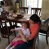 Audrey Sitting with Mommy