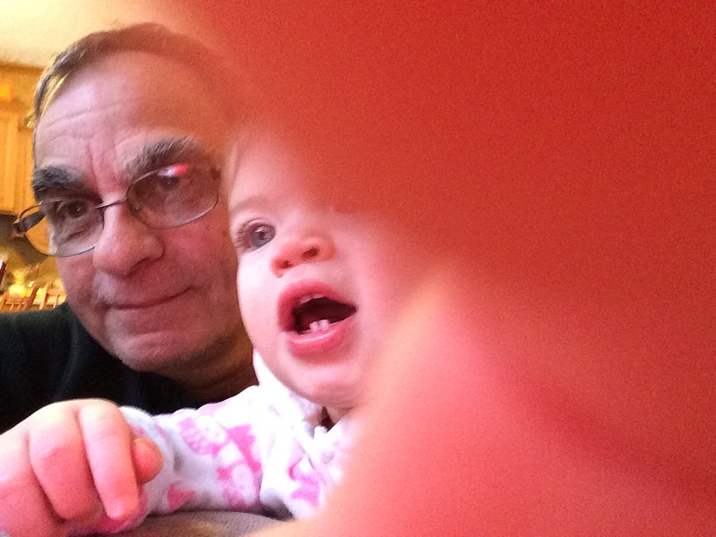 Audrey with Pappy February 2014