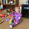 Audrey Playing with Toys
