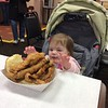 Audrey Eating the Whaler Fish Sandwich at Wholey's