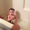Audrey Getting Bath at Grammy's House