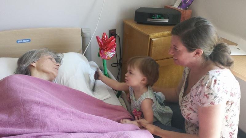 Audrey & Carly Visit Grandma at Glade Valley May 2015