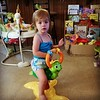 Audrey at 16 months ... On her turtle