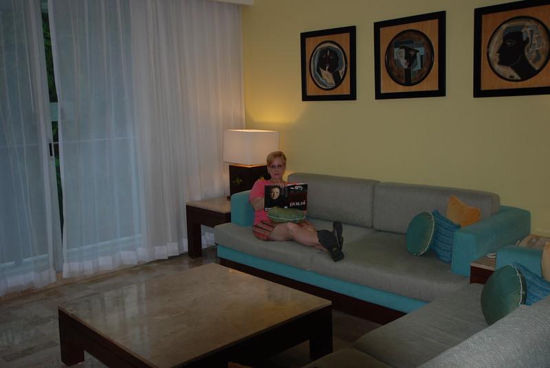 Patty Reading at Mayan Palace