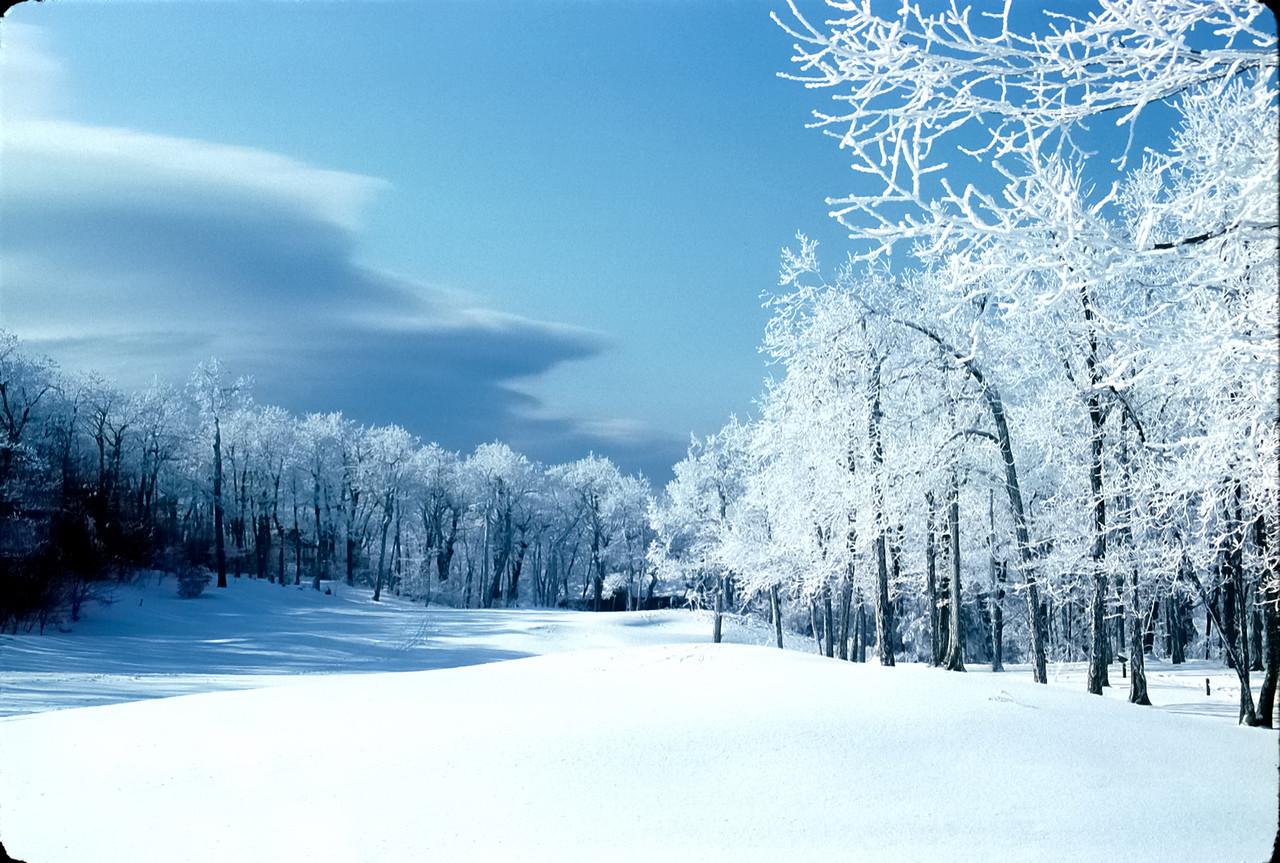 Winter snow on #13 - Devil's Knob Golf Course - Wintergreen, Virginia
