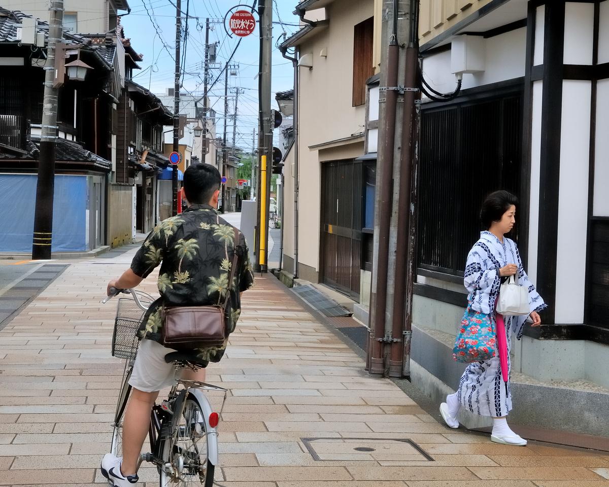 Old meets new - Higashi Chaya District - Kurashiki, Japan