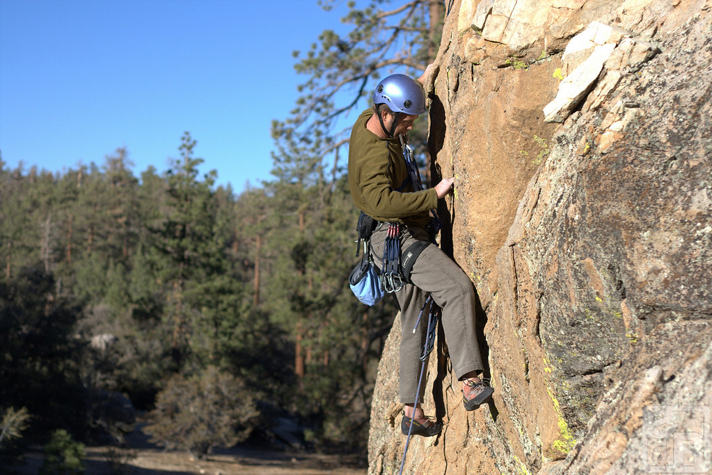 Climber in Big Bear, California