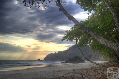 Costa Rican beach. HDR with blended layers