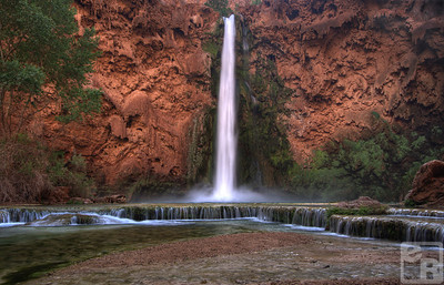 Mooney Falls in Havasupai Tribal Lands