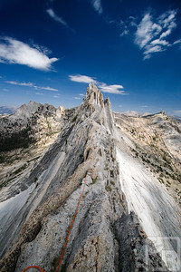 A climber on Matthes Crest, Yosemite National Park, California