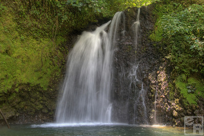 Waterfall near Arenal Volcano. HDR photo.