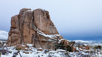 Intersection Rock in the Snow