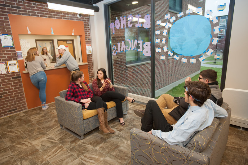 Honors students living in Bishop Hall at Buffalo State College.