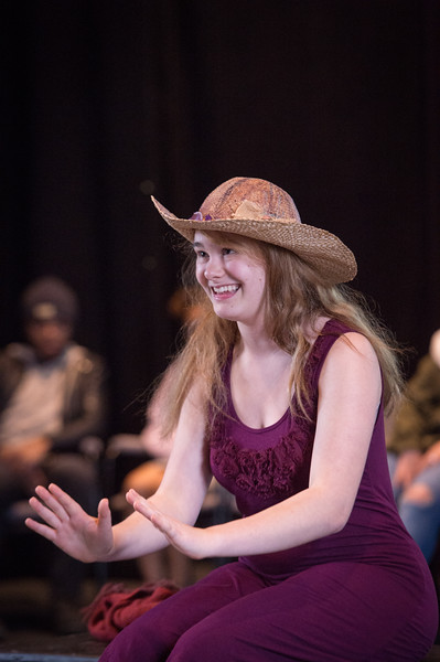 Theater student Samantha Coleman  performing at the New Student Showcase at SUNY Buffalo State College.