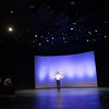 Theater student Lucas Colon performing at the Theater Department Senior Showcase at Buffalo State College.