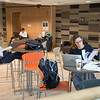 Students studying in Caudell Hall at SUNY Buffalo State.