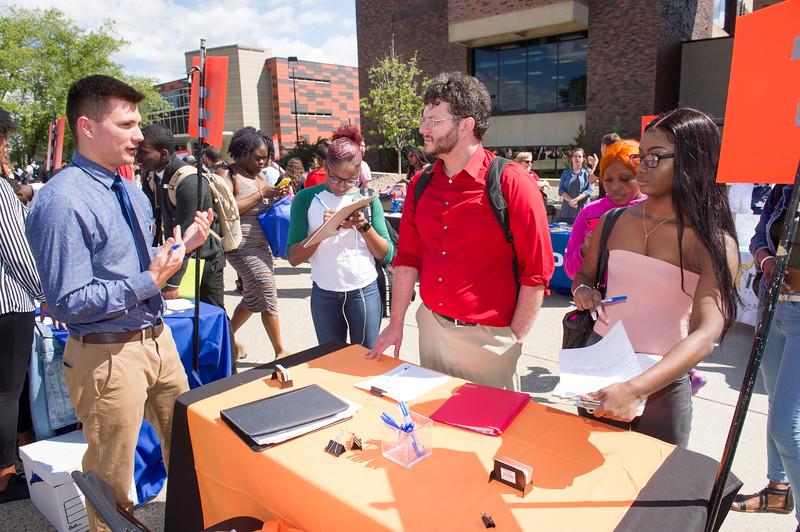Career Development Center Part-time Job Fair Luau at Buffalo State College.