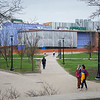 Spring campus scenic at Buffalo State College.