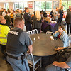 Coffee with a Cop event at SUNY Buffalo State College.