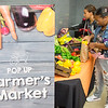 Pop up farmer's market for students at SUNY Buffalo State.