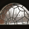 Arched window in  Ketchum Hall at SUNY Buffalo State College.