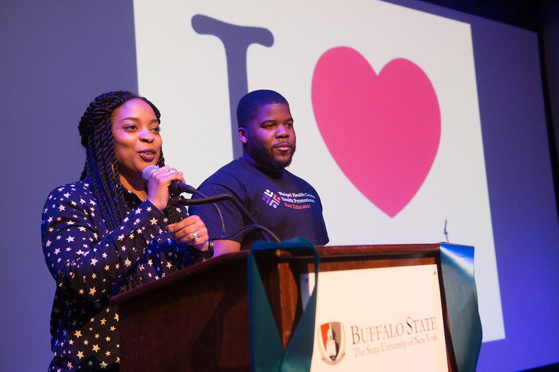 Take Back the Night student event at Buffalo State College.