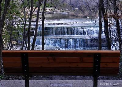 Bench at Airfield Falls