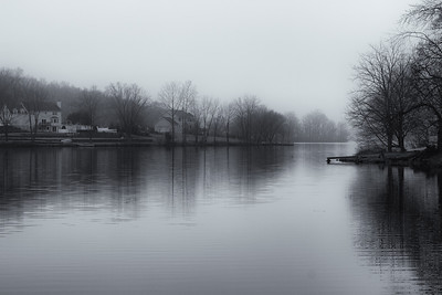 Foggy day on Beaverdam Lake