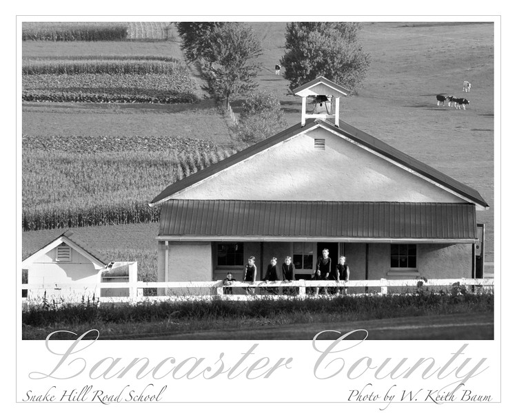 Amish One-Room Schoolhouse, Lancaster County, Pennsylvania.  Copyright - W. Keith Baum | PhotoCanal.com