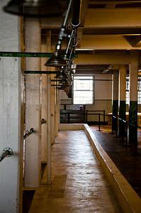 The showers at Alcatraz