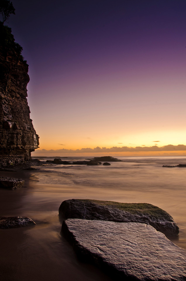 Newport Beach is such an amazing place at 5AM? No one around, beautiful sunrise and magnificent cliffs. I can only recommend people to go there and enjoy the spectacle...This was also my first photo of 2012, what a great way to start a new year