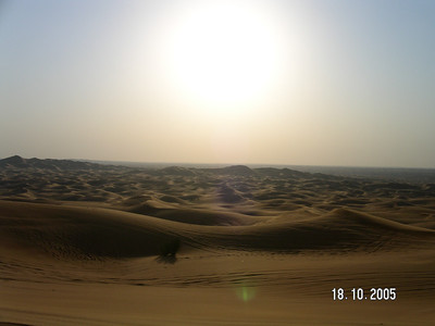 In the middle of the desert in Dubai, UAE