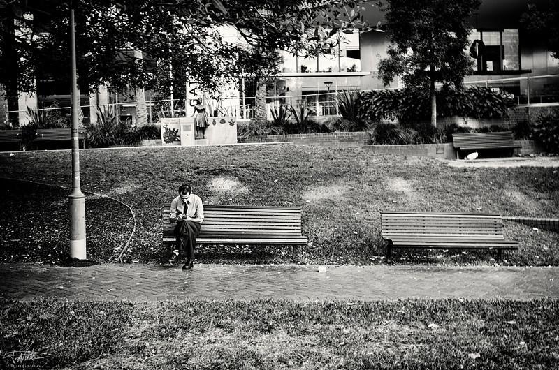 Cigarette in the park