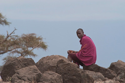 Masai tribesman Amboseli National Park, Kenya, Africa