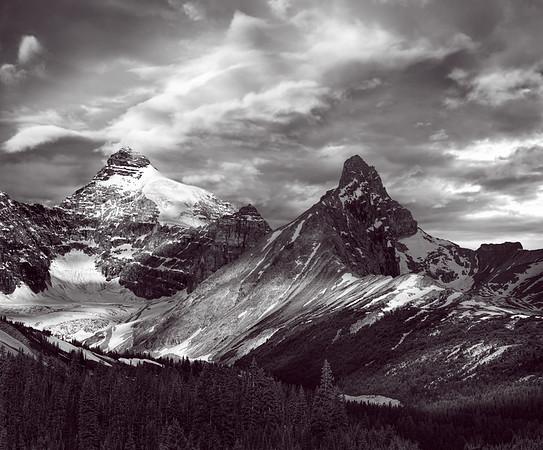Mt Athabasca and Hilda Peak