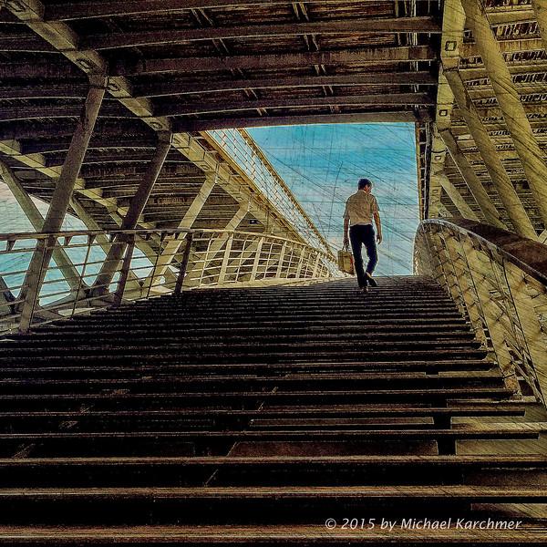 Framed, Walking Bridge over the Seine, Paris (2015) [Michael Karchmer]