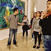 Tour Guide with Visitors at the Chagall Museum, Nice