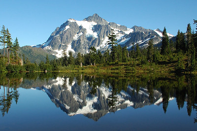 Mt Shuksan and Picture Lake
