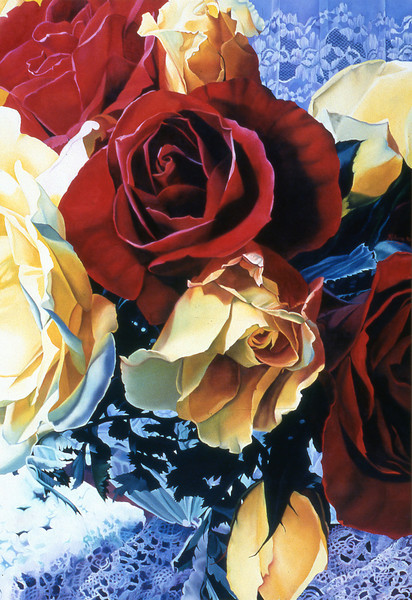"""AUNTY ROSES'S ROSE BOWL"" ~ 44"" x 32"""
