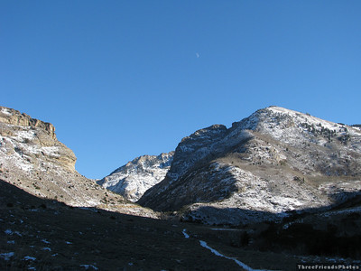 November - Moon and Canyon - Lamoille Canyon, NV