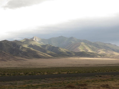 Part of the mountain range north of Lovelock Nevada that runs along side I80