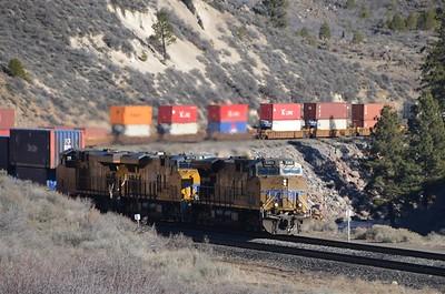 Union Pacific train going to California