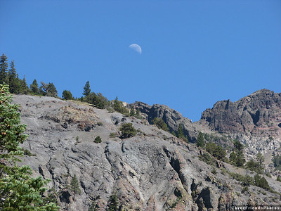 California Highway 4, Moon over Mad Canyon, California