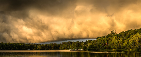 This was the scene as a storm moved away from Norway last week.