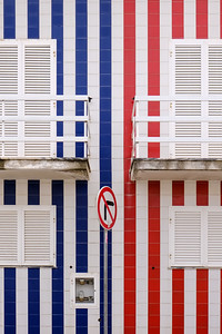 Striped houses of Praia da Costa Nova, Aveiro.