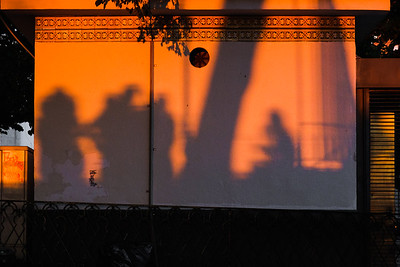 Shadows at the Miradouro Sophia de Mello Breyner Andresen, Lisbon