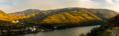 Douro vineyards, from Quinta de la Rosa terrace walls. Pinhao.
