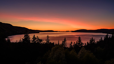 Sunset from Mom's. Mount Moriah, NL