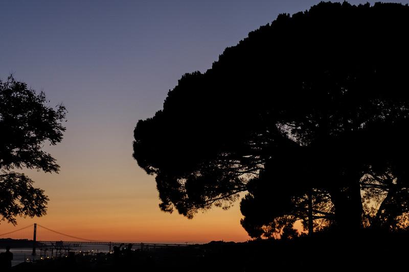 Sunset from the Castelo de Sao Jorge, Lisbon.